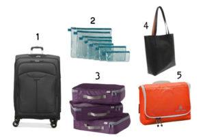 Suitcase items